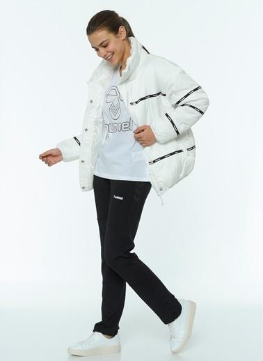 Hummel Hummel 9401309973 Narissa Balıkçı Yaka Düğmeli Kadın Şişme Mont Beyaz